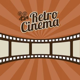 Projeto de cinema sobre ilustração em vetor fundo listras