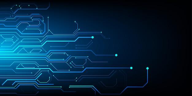 Projeto de circuito de tecnologia futurista abstrata