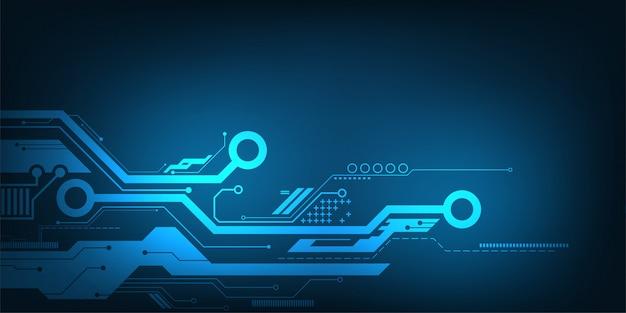 Projeto de circuito eletrônico da tecnologia abstrata do fundo do vetor.