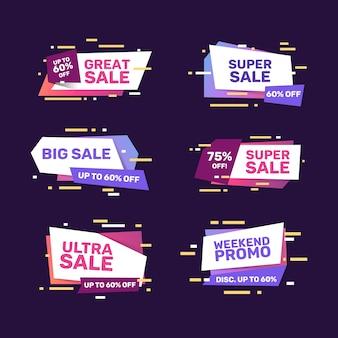 Projeto de coleção de banner de vendas colorido