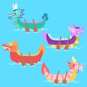 Projeto de coleção de barco dragão