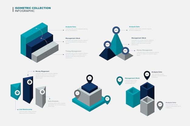 Projeto de coleção de elementos infográfico