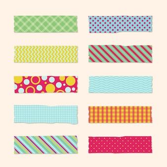 Projeto de coleção de fitas washi
