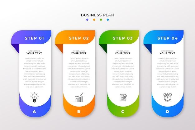 Projeto de coleção de infográfico de etapas
