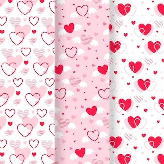 Projeto de coleção de padrão de coração