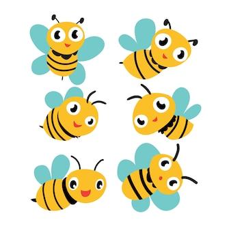 Projeto de coleção de vetor de abelha