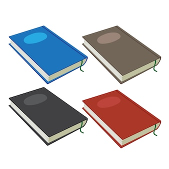 Projeto de coleção de vetor de caderno