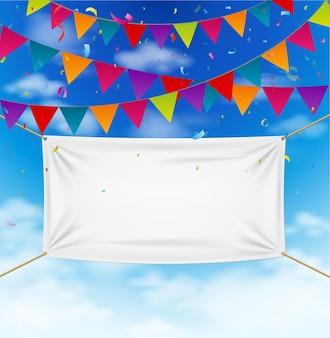 Projeto de comemoração com bandeiras coloridas bunting
