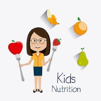 Projeto de comida de crianças.