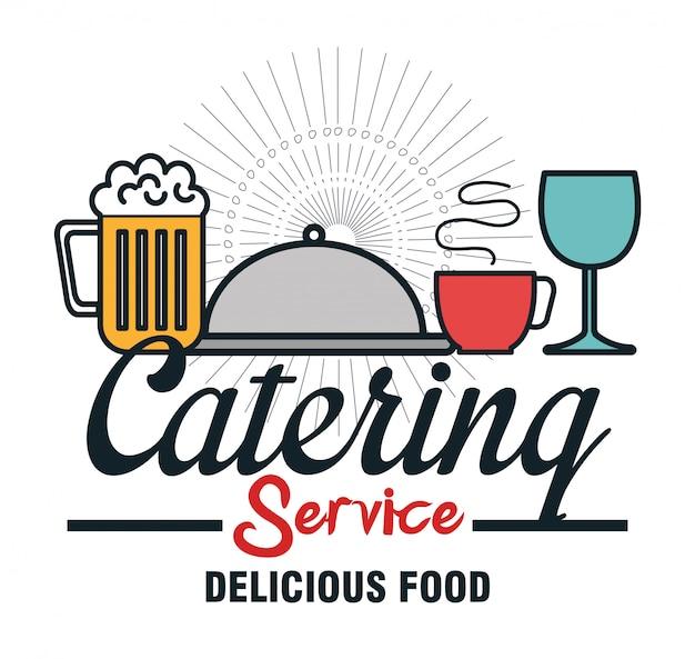 Projeto de comida de serviço de catering de ícone