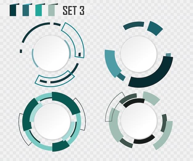 Projeto de comunicação colorido branco abstrato círculo cinza