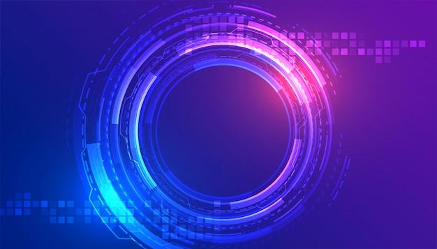 Projeto de conceito abstrato tecnologia digital fundo futurista