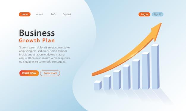 Projeto de conceito da página de destino de crescimento de negócios