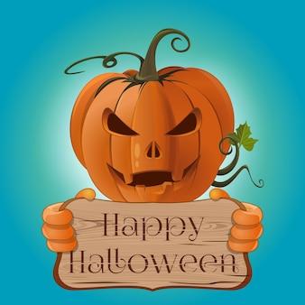 Projeto de conceito de cartaz para o halloween. feliz dia das bruxas. ilustração vetorial