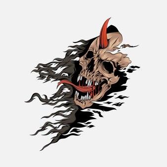 Projeto de conceito de cloaked skull