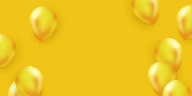 Projeto de conceito de confete de balões amarelos