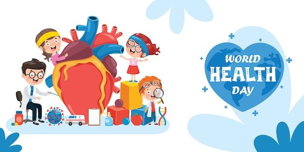 Projeto de conceito de cuidados de saúde com coração