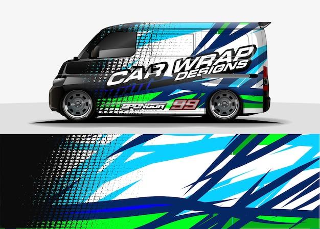 Projeto de conceito de decalque para embrulho de adesivo de veículo