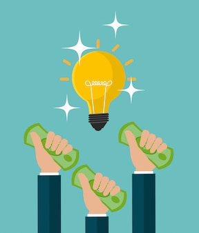 Projeto de conceito de dinheiro