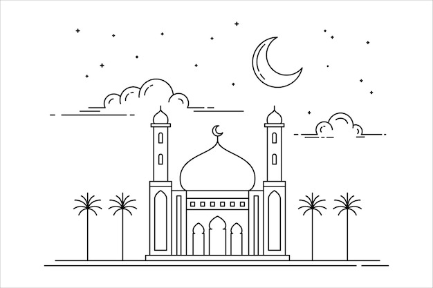 Projeto de conceito de estilo mesquita monoline