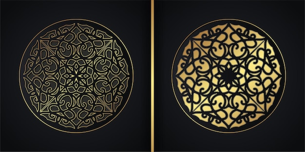 Projeto de conceito de fundo de mandala escura