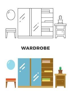 Projeto de conceito de guarda-roupa