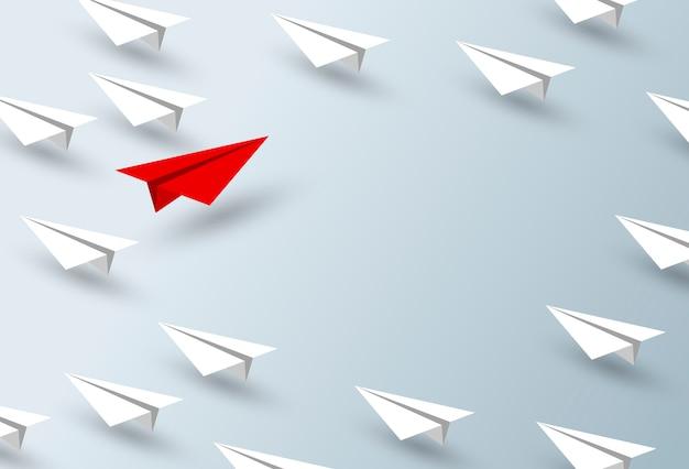 Projeto de conceito de liderança de avião de papel