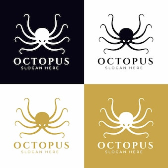 Projeto de conceito de logotipo de polvo