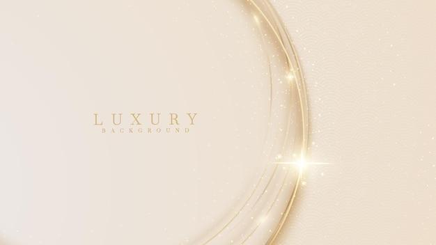 Projeto de conceito de luxo com curva dourada
