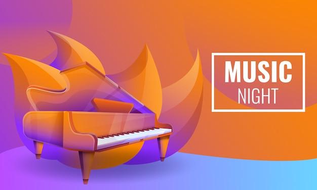 Projeto de conceito de noites musicais com piano