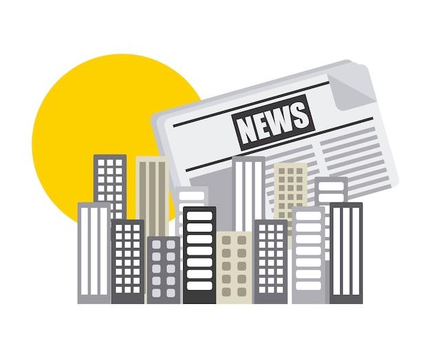 Projeto de conceito de notícias, gráfico de vetor ilustração eps10