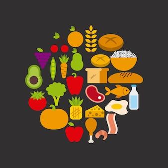 Projeto de conceito de nutrição, gráfico de vetor ilustração eps10