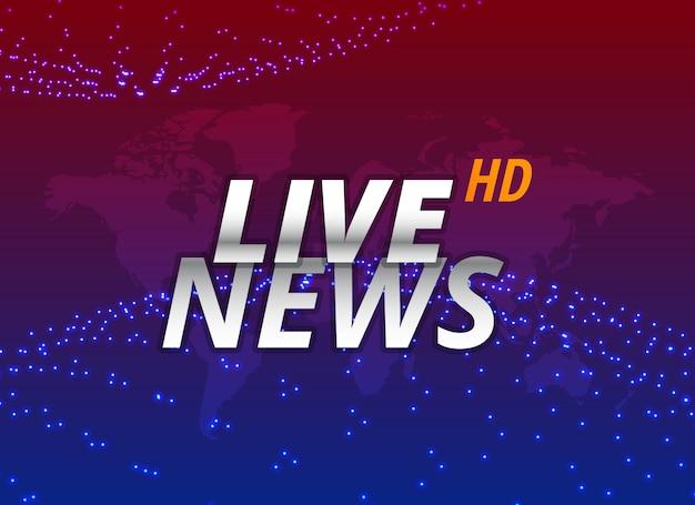 Projeto de conceito de plano de fundo de notícias ao vivo