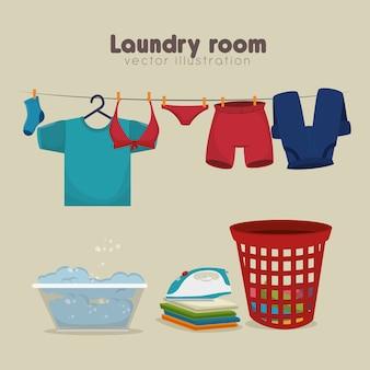 Projeto de conceito de serviço de lavandaria