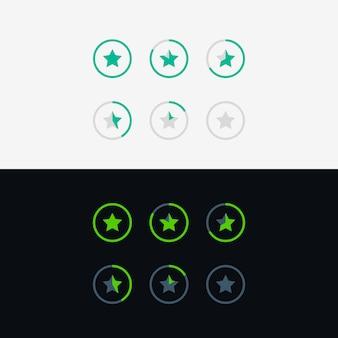 Projeto de conceito de símbolo de classificação por estrelas