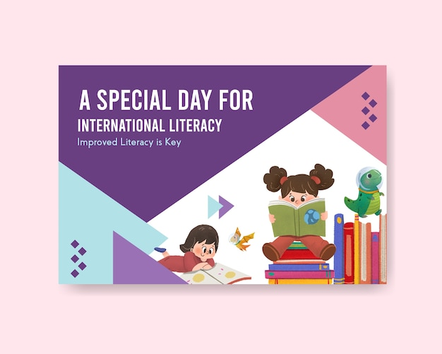 Projeto de conceito do dia internacional da alfabetização