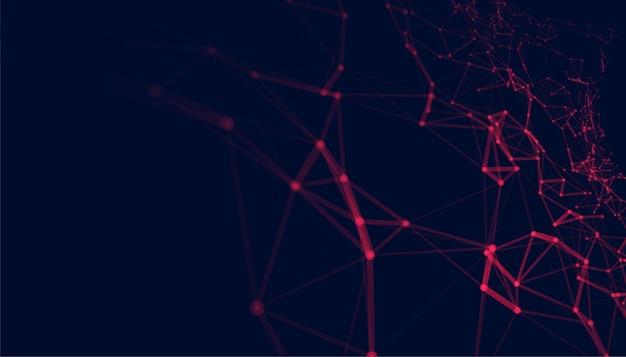 Projeto de conexão de malha de rede de baixo poli