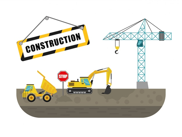 Projeto de construção machinary.