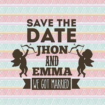 Projeto de convite de casamento