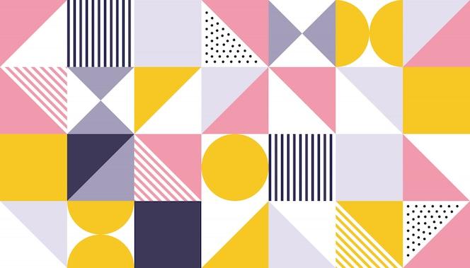 Projeto de cor abstrata padrão geométrico