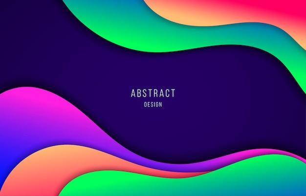 Projeto de cores gradientes abstratas de obras de arte de estilo de modelo fluido. estilo de movimento de fundo ondulado.