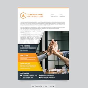 Projeto de corporação de panfleto