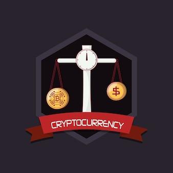 Projeto de criptomoeda com escala com cryptocoins