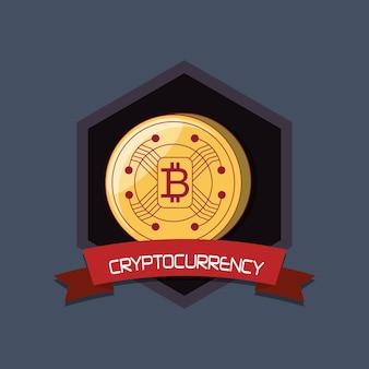 Projeto de criptomoeda com moeda bitcoin