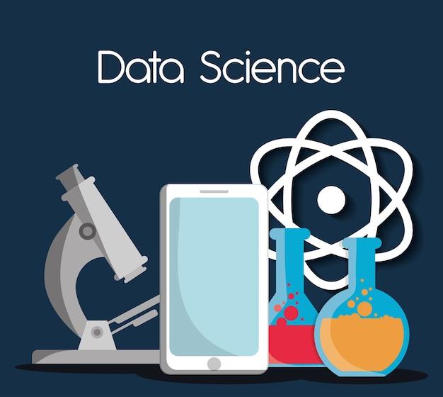 Projeto de dados de ciência, ilustração vetorial