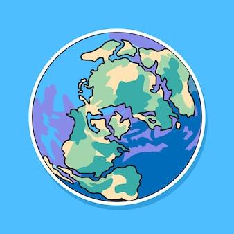 Projeto de desenho animado da terra