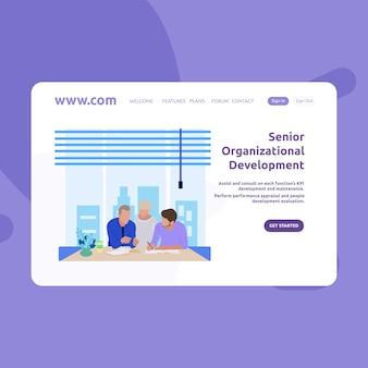 Projeto de desenvolvimento de desenvolvimento sênior de página de destino