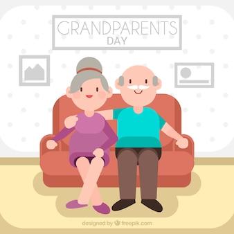 Projeto de dia dos avós planos na sala de estar