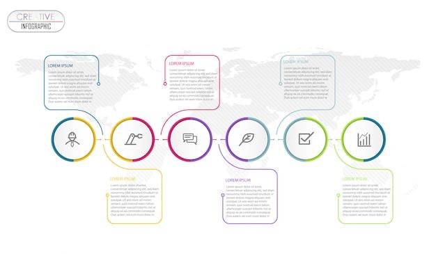 Projeto de diagrama de infográfico com processo de passo