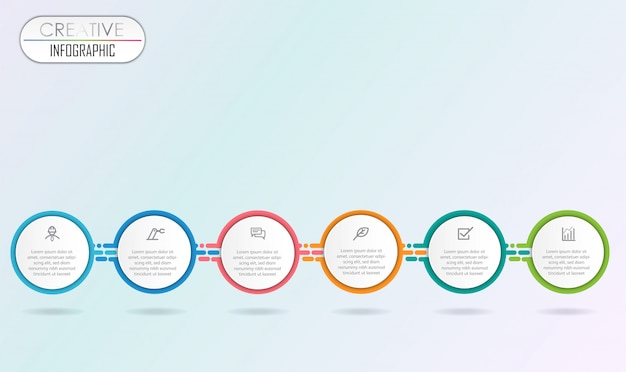 Projeto de diagrama de infográfico